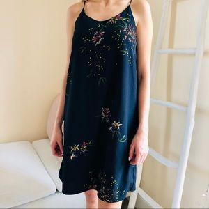 Dalia mini summer floral dark blue dress